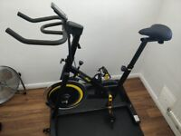 Bodymax B2 Indoor Studio Cycle Exercise Bike (Black) + Powercal + Floor Mat