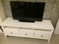 TV + TV table + panasonic DVD player