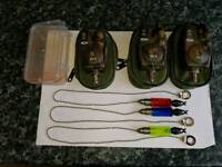 3x NGT vc2 bite alarms with bobbins