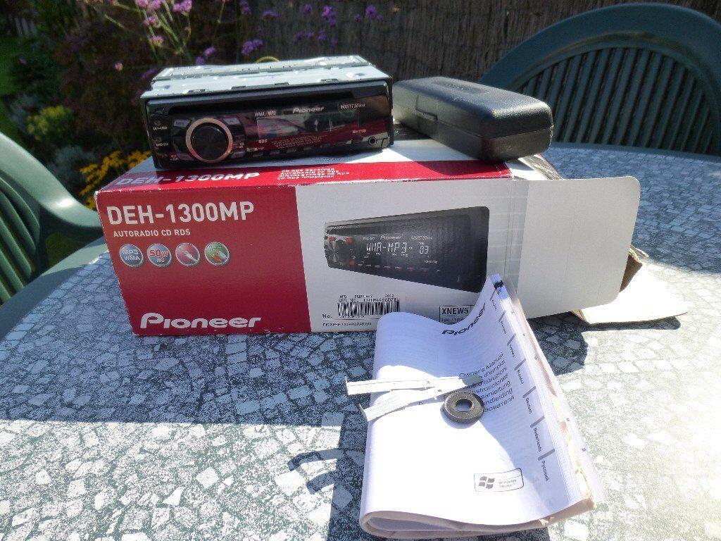 Pioneer Car Cd Player Mp3 Radio Deh 1300mp In Totton Hampshire Manual