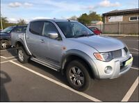 Mitsubishi L200 Warrior pick-up, silver, 07 Reg 110k miles, One company, serviced by Main Dealer