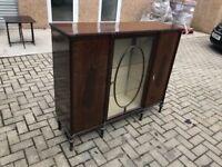 Edwardian mahogany display cabenit/bookcase