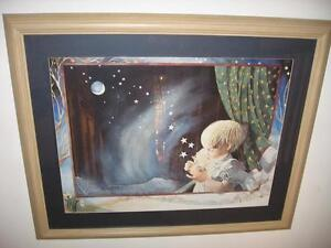 EX LARGE ,MOON -STAR - CHILD  PICTURE FRAME  .