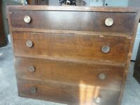 Vintage Mahogany Chest Of Drawers with four drawers