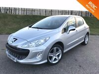 2009 PEUGEOT 308 SPORT 1.6 16V 120BHP - 63K MILES - F.S.H - 5 STAR SAFETY RATING - 6 MONTHS WARRANTY