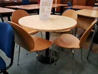 Round meeting table and 4 chairs