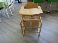 Wooden Mothercare High Chair