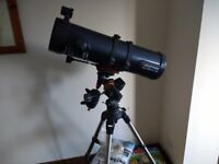 Celestron Astromaster 130. As new, unwanted present. £150 new.