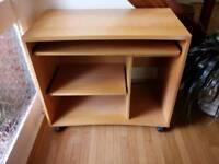 Beech Computer Desk Wooden