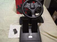 INTERACT V3 STEERING WHEEL AND FOOT PEDAL UNIT, BRAND NEW, TESTED, FULL WORKING ORDER