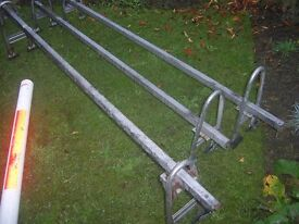 Ford transit triple roof bars made by mont blanc very good condition