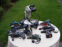 Power tools for spares or repair