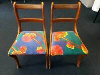 Pair of Regency reproduction chairs