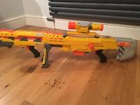 Nerf Long-strike with ammo clip and Adjustable stock.