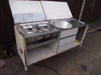 Sink / cooker unit