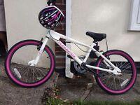 """Girls muddyfox mountain bike 20"""" with helmet"""