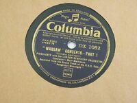 Columbia 78rpm 12in vinyl, Warsaw concerto parts 1&2, DX1062