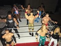 WWE FIGURES AND RING