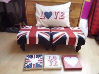 Union jack, love theme bedroom / living room full set