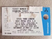 1 x Steel Yard London - Eric Prydz presents epic 5.0 tickets