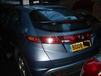 Breaking Honda civic 08 / 09 plate 5dr all parts that you can see available