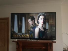 55 inch smart t.v. and wall bracket