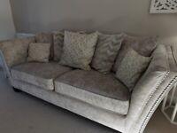 Corner sofa and three seater sofa