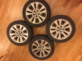 *EXCELLENT* E60 E61 BMW 5 SERIES Four Winter Wheels Tires