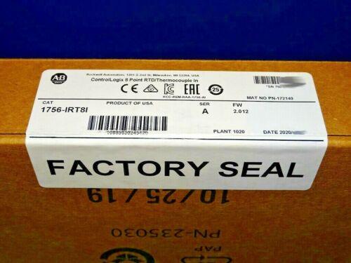 2020 FACTORY SEALED Allen Bradley 1756-IRT8I /A RTD Thermocouple ControlLogix