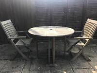 Patio set-wooden- great condition