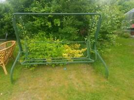 3 seater swing with cane 2 seater settee