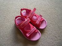 Girls clark doodle sandals 71/2 and anna and elsa jelly shoes 7