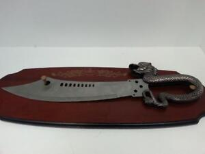 Dragon Scimitar Scythe. We sell used Swords and Knives. (#48999) CH630457