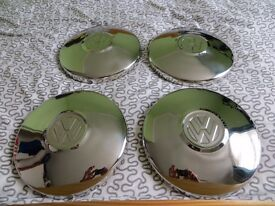 VW wheel trims chrome hub caps x 4