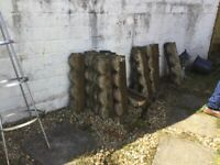 About 25/26 garden edging stones weathered Free