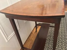 Lovely Antique Edwardian mahogany side table with inlays