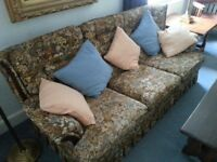 Settee, three seater, excellent condition.