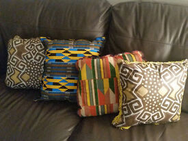 4 x African style cushions
