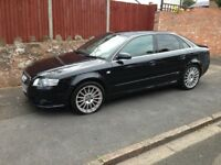 AUDI A4 S LINE TDi 2007 REG, LONG MOT, FULL SERVICE HISTORY, HPi CLEAR WITH BOSE SOUND SYSTEM