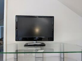 22 inch TV with glass TV stand