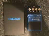 Boss CS-3 Compression Sustainer guitar effects pedal as new condition