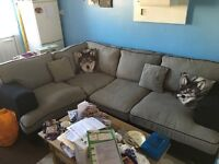Corner Sofa (Gray and Black)