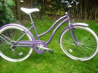 Ladies new retro style hybrid bike.