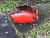Red piaggio zip *back / rear panel*