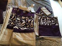 Curtain and duvet set