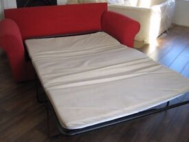 Red 3 Seater Sofa Bed