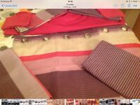 """Next double bedding with matching curtains 66""""x54"""""""