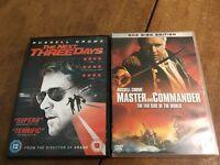 Russell Crowe DVD Film Bundle