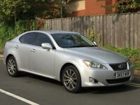 LEXUS IS 220D 2.2 TD (57 PLATE) *LONG MOT *FULL SERVICE *BLACK LEATHER HEATED SEATS *MAY PART EXCH