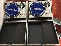 Technics sl-1200 mk2 with flight cases
